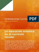 Orientaciones Curriculares Edu. Artisticas
