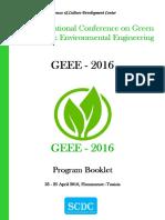 GEEE'2016 Booklet