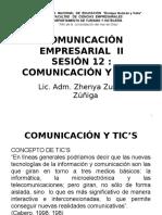 Sesión 12 Comunicacion y Tics