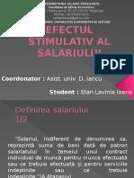 Efectul Stimulativ Al Salariului