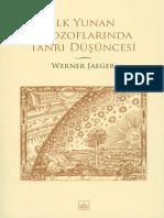 Werner Jaeger - İlk Yunan Filozoflarinda,Tanrı