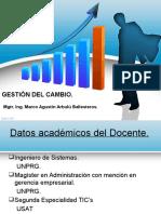 Presentacion Del Docente