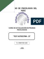 06 Test de Autoestima 25 Ruiz 2009