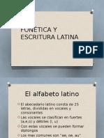 Fonética y Escritura Latina