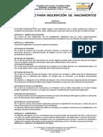 03 Reglamento Para Inscripcion de Nacimientos