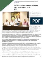 02/06/16 Por primera vez en México, funcionarios públicos serán evaluados para permanecer en la administración