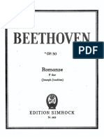 Beethoven Romance Op. 50 Piano