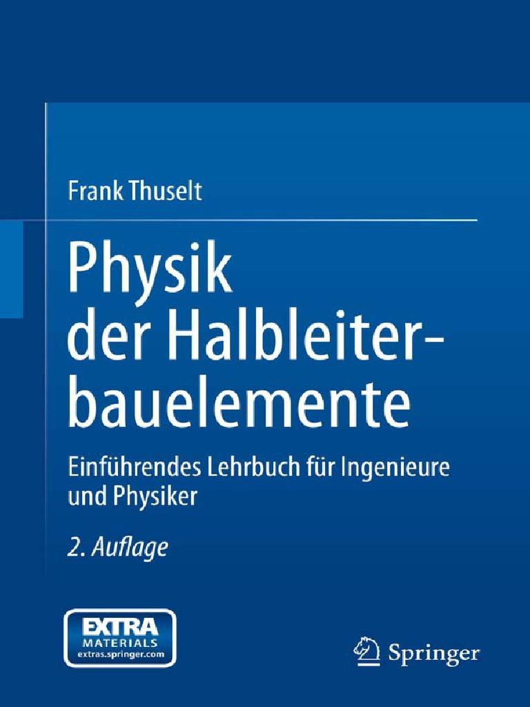 Physik Der Halbleiterbauelemente - Einführendes Lehrbuch Für ...