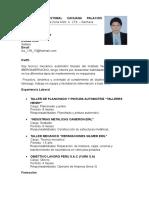 Curriculum Vitae Oficial 1.5 Año