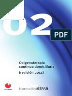 Normativa Separ Oxigenoterapia Domiciliaria