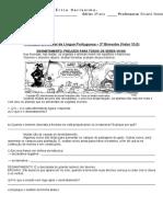 Avaliação Bimestral - 2º Bimestre - 4º Ano C e D