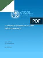 3. El Transporte Ferroviario en La Cadena Logística Empresarial