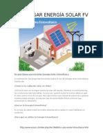 Cómo Usar Energía Solar Fv