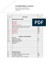 Planilha Orçamentaria Asa Sul
