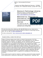 Bibliometrics, Cybermetrics, Informetrics, And Scient
