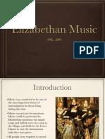 Elizabethan Music Presentation