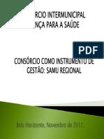 Apresentação SAMU Consórcio Regional