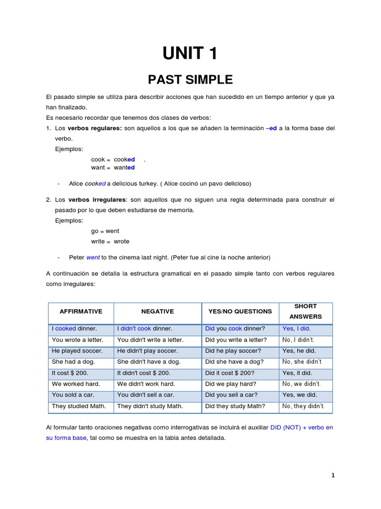 Folleto Gramatical 4to Nivel Agosto 2013 Syntax Rules