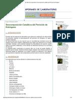 Ayuda Con Tus Informes de Laboratorio_ Descomposición Catalítica Del Peróxido de Hidrógeno
