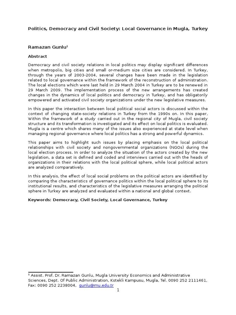 characteristics civil society