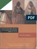María Elisa Velázquez, Mujeres de origen africano en la capital novohispana, siglos XVII y XVIII pdf