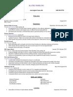 katie morang resume