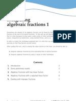 Aljebraic Fractions