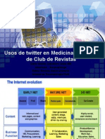 New Uses of Twitter in Health. twittering journals clubs at Universidad del Norte in Colombia