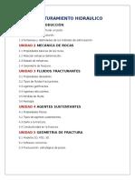 FRACTURAMIENTO HIDRÁULICO temario
