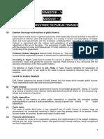 Role of Public Finance