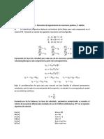 Ing. de Reacciones Quimicas - Tarea, Ejercicio 6.14, Fogler 4ta Edicion