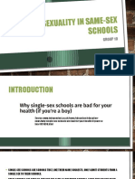 Sexuality in Same-sex Schools