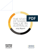 2015 State of Shared Value in Australia Report Double Spread