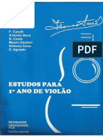 Estudios Para Primer Año de Guitarra Revisados Por Isaias Savio