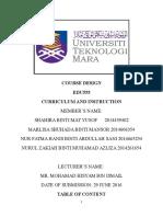 assignment course design print