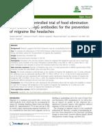 Randomised Controlled Trial of Food Elimination Diet Based on IgG
