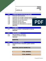 Presupuesto Arrecife s 33 Filtracion en Piscina Junio 2015