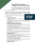 Reglamento Interno y Uso de Piscina
