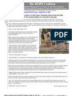September 22, 2009 - HOPE Coalition Newsletter ~ Humboldt Organized for People and the Environment