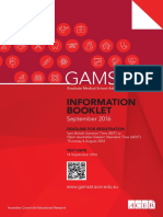 GAMSAT Information Booklet