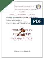 Portafolio de Legislacion Farmaceutica Diarios de Campo