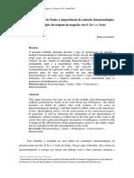 A Fenomenalidade do Nada a importância do método fenomenológico para a descrição da origem da negação em O Ser e o Nada.pdf
