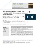 Why Do General Medical Patients Have a Lengthy Wait in the Emergency Department Before Admission