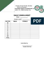 Daily Enrolment