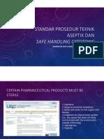 Bu Endang Standar Prosedur Teknik Aseptik Dan Safe Handling Cytotoxic New