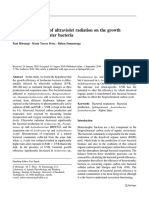 Contrasting Effects of Ultraviolet Radiation on the Growth Efficiency of Freshwater Bacteria