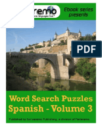 Spanish Word Search Puzzles Spanish - Volume 3