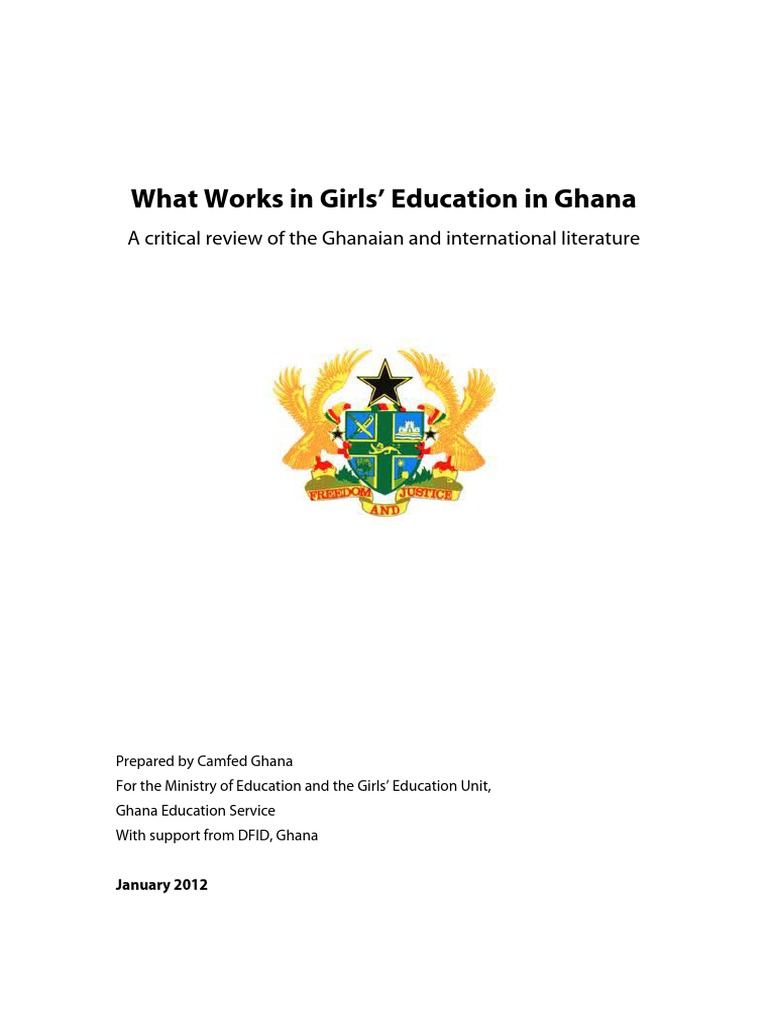 What Works in Girls Education in Ghana | Female Education | Poverty &  Homelessness