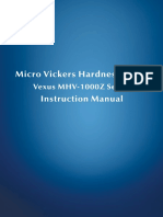 Sinowon Micro Vickers Hardness Tester Vexus MHV-1000Z Operation Manual