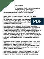 The Virtues of Salah Tahajjud